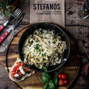 Stefanos Pizza Nørrebro og Østerbro Pasta Fettuccine Pollo