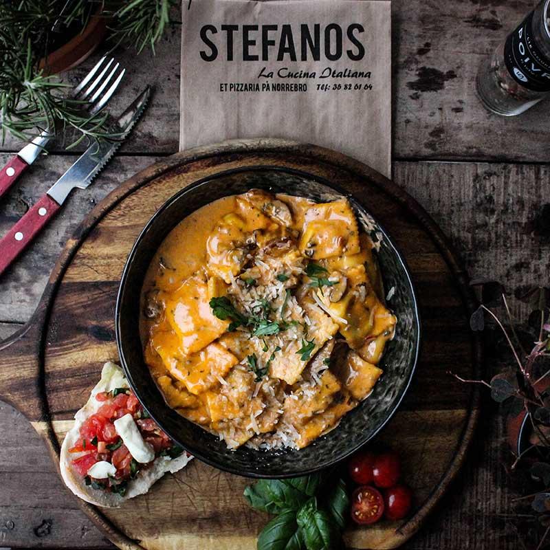 Stefanos Pizza Nørrebro og Østerbro Pasta Ravioli Agnello