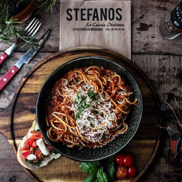 Stefanos Pizza Nørrebro og Østerbro Pasta Spaghetti Bolognese