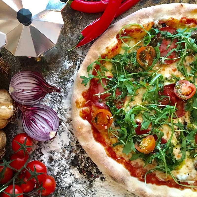 Stefanos Pizza Nørrebro og Østerbro Pizza Chorizo