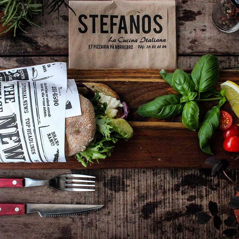 Stefanos Pizza Nørrebro og Østerbro Sandwich Mozzarella og Advokado