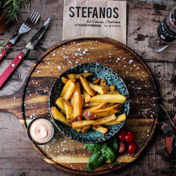 Stefanos Pizza Nørrebro og Østerbro Pommes Frites