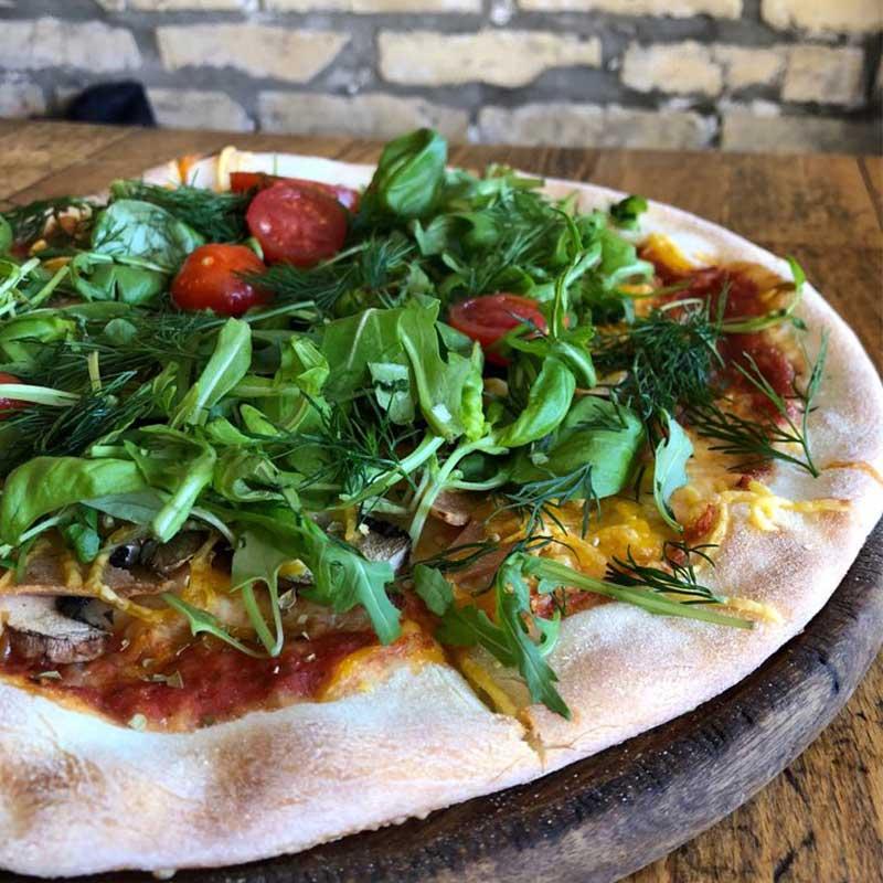 Stefanos Pizza Nørrebro og Østerbro Pizza Magic Mushroom